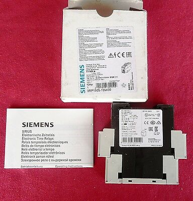 Siemens 3RP1505-1BW30 Solid State Time Relay, EAN 4011209320109, Made in Germany