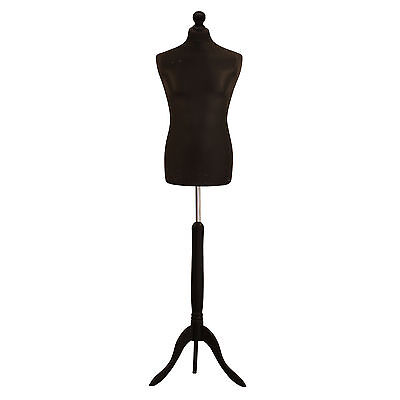 Black Male Tailor Dummy Fashion Students Mannequin Window Display Bust