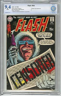 Dc Flash #193 1969 Cbcs 9.4 Nm Pedigree-Newsstand Mint Collection Captain Cold