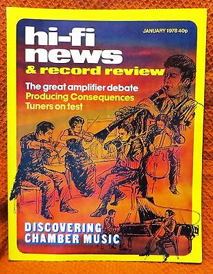 Vintage Hi-Fi News & Music Review Magazine January 1978 - Free Post Mainland