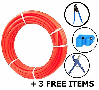 "1/2"" x 500ft Pex Tubing Oxygen Barrier EVOH Pex-B Red Radiant Floor Heat 3 Item"