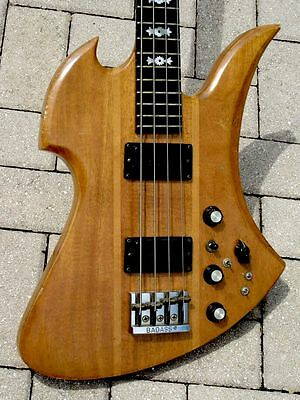 1977 B.C.Rich Mockingbird Bass One Of The Earliest Examples Produced !