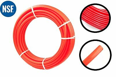 3/4 Inch x 100 Feet PEX TUBING RED FOR POTABLE WATER, PEX-B (Non-Barrier)