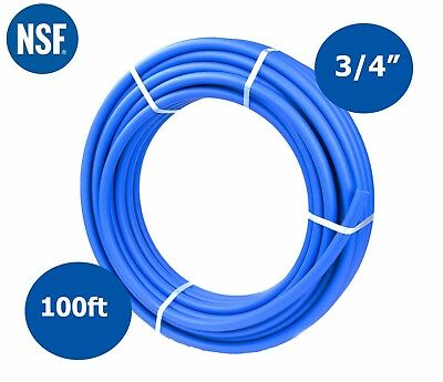 """3/4"""" x 100ft Blue PEX Tubing for Potable Water PEX-B Pipe Non-Barrier 3/4 inch"""