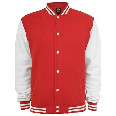Retro College Jacken Urban Classic in Rot - Uni Jacke