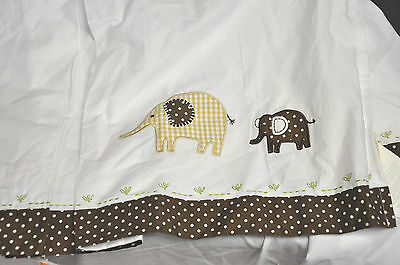 Pottery Barn Kids PBK Baby ELEPHANT Crib DUST RUFFLE Polka Dot BED SKIRT Brown
