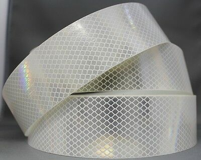 3M White (4090) Diamond Grade Class 1 Reflective Tape 75mm x 45.7m