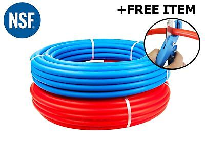 """2 rolls 1/2"""" x 100 feet PEX Tubing for Potable Water Combo w/ Free PEX Cutter"""
