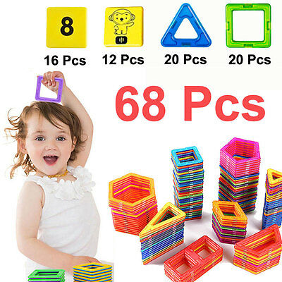 68 PCS Magnetic Building Sets Similar Magformers Toys Magspace educational toy