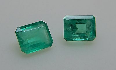 2.13 Cts BEAUTIFUL PAIR COLOMBIAN EMERALDS /S34/5/FR