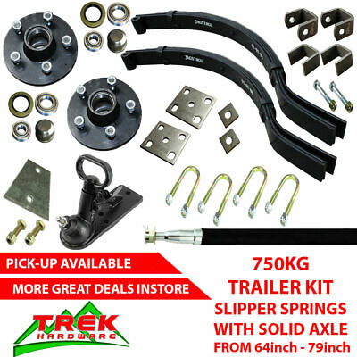 DIY SINGLE AXLE TRAILER KIT. 750KG Slipper Springs Trailer DIY Kit Box