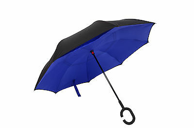 Double Layer Reverse Umbrella Inside Inverted Windproof Car Portable Automatic