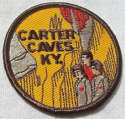 Vintage Souvenir Sewing Patch Carter Caves KY Kentucky
