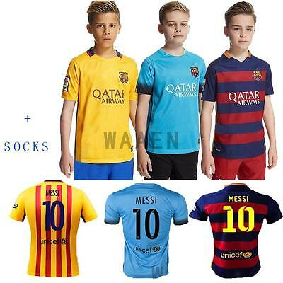 2015/2016  Kids Boys Home Jersey Football Kit Shirt and shorts & socks
