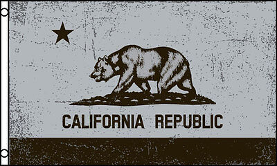 57712b2f BLACK & WHITE California State Flag 3x5 ft California Republic Red ...