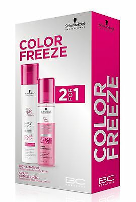 SCHWARZKOPF Color Freeze Shampoo 250ml+ Conditioner 200ml 2for1 BC Bonacure