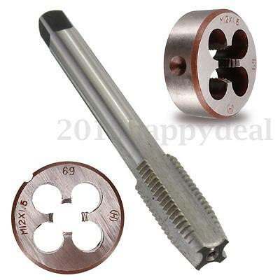 M12 X 1.5Pitch HSS Machine Right Hand Screw Thread Metric Plug Tap & Round Die