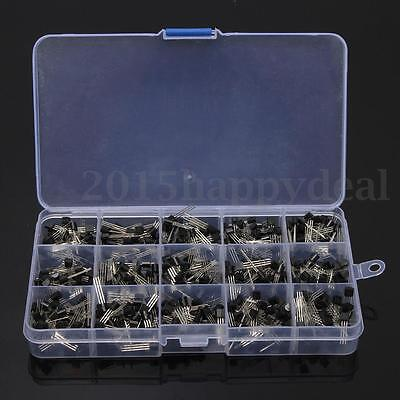 600Pcs Set 15 Kinds x 40 pcs TO-92 Assortment Bipolar Transistor In+Box KitS