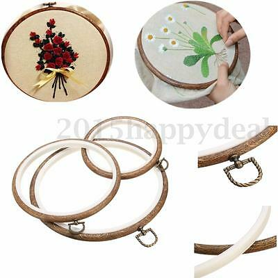 Round Wooden Frame Ring Embroidery Hoop Two Layer Cross Stitch Sewing Tool S/M/L