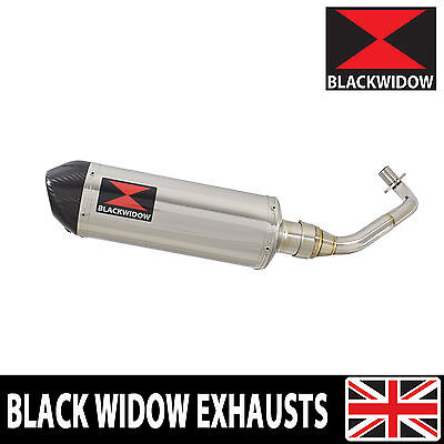 Piaggio Vespa GTV 300 4T 4V ie 2009-2016 Oval Stainless End Can Silencer 300ST