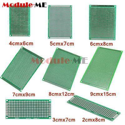 8 Size Double Side Prototype PCB Tinned Universal Breadboard FR4Stripboard UK