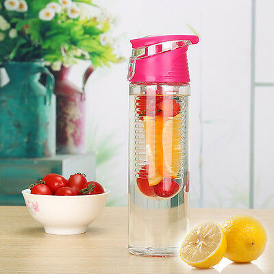 NEW 2016!! Fruit Infuser Juice Detox Bottle Health Sports 800ml Water Bottle Gym