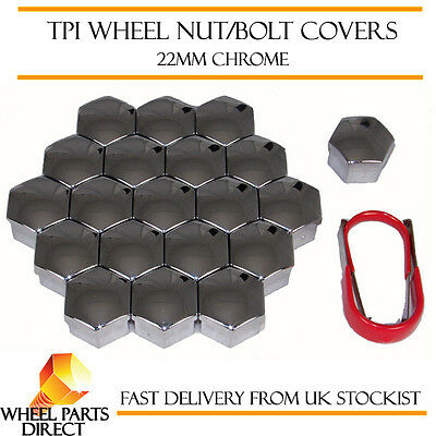 TPI Chrome Wheel Nut Bolt Covers 22mm Bolt for Vauxhall Insignia
