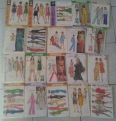 Vintage Sewing Pattern Lot of 20 McCalls Vogue Simplicity Butterick Womens