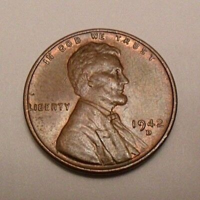 1942 D Lincoln Wheat Cent / Penny Coin   *FINE OR BETTER*  **FREE SHIPPING**