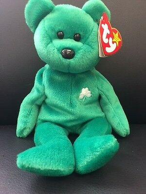 a3ab721a345 Ty Beanie Baby Erin Green Irish Bear Original St.Patricks New Collectable