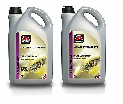 2x 5L Millers Millermatic ATF DM Automatic Transmission Steering Fluid 10 Litre