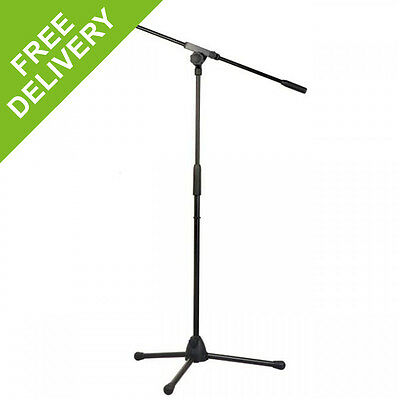 DAP Audio Microphone Mic Tripod Stand with Boom Arm 890-1460mm Adjustable Height