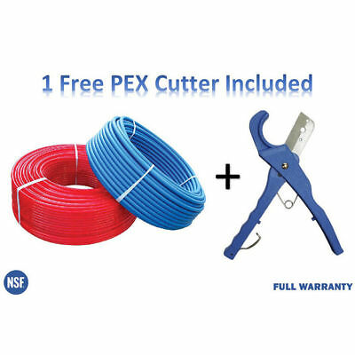 2 rolls 3/4 Inch x 100 Feet PEX Tubing For Potable Water w/ Free PEX Cutter