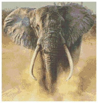 African Elephant 3 - 14 Count Cross Stitch Kit