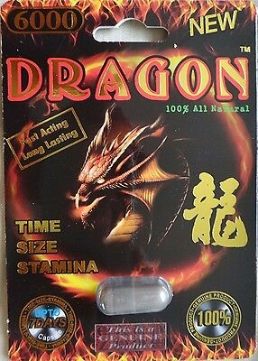 NEW 5Pks DRAGON6000 Sexual Enhancer Pills Stamina powerzen extenzen male men