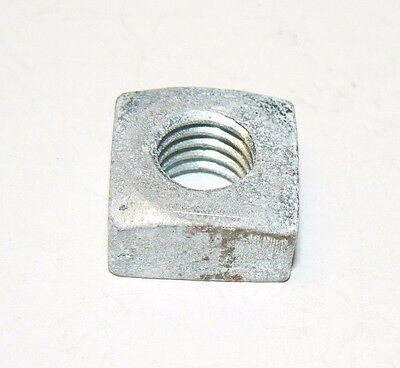 7/16-14 Square Nuts - Coarse Thread - Zinc Plated Finish - Lot of 50 Pcs.