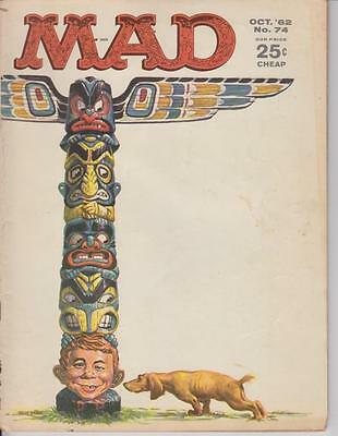 Vintage Mad Magazine October 1962 #74