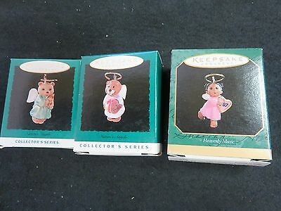 VINTAGE MINI Hallmark Keepsake Ornament LOT - HEAVENLY ANGELS   NEW IN BOX