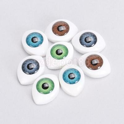 8X 10mm Plastic Safety Oval Eyes Bear Toy Mask Doll Making DIY Hollow Back