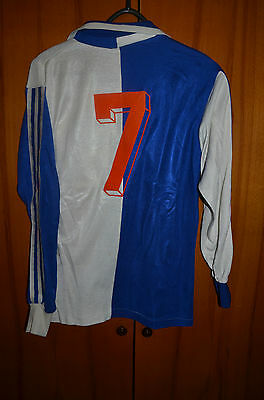 Grasshoppers Switzerland 1980's No Match Worn Issue Football Shirt Adidas #7