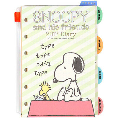 2017 Snoopy LV Agenda Refills Organizer Pages Roof  Green Sanrio
