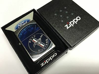 New Ford Mustang Speed Display Street Chrome Zippo Lighter RARE