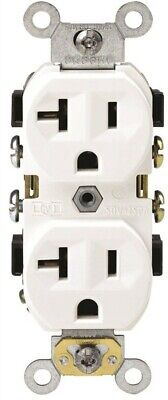 Commercial Grade Grounded Duplex Outlet,No BR20-00W,  Leviton Mfg Co, 3PK