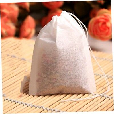100pcs Empty Teabags String Heat Seal Filter Paper Herb Loose Tea Bags AO