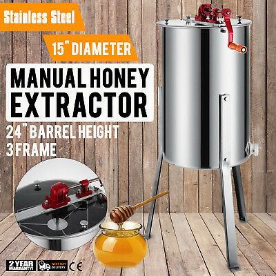 Honey Extractor Manual 3/6 Frame Stainless Steel Beekeeping With Filter