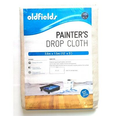 Paint Drop Sheet Oldfields Pro Series Painter's Drop Cloth 12' x 5' (3.66x1.52m)
