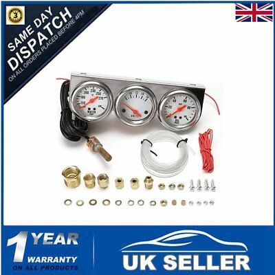 Universal 2.27''Water Temp Voltage Volt Oil Pressure Psi Gauge Complete Set of 3