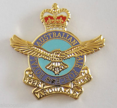 Royal Australian Air Force Raaf Lapel Badge 20Mm High With One Pin Raaf