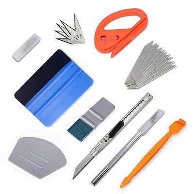 5in1 Car Wrapping Application Tools Kit, Decal Gasket Tint Squeegee Blue Max UK