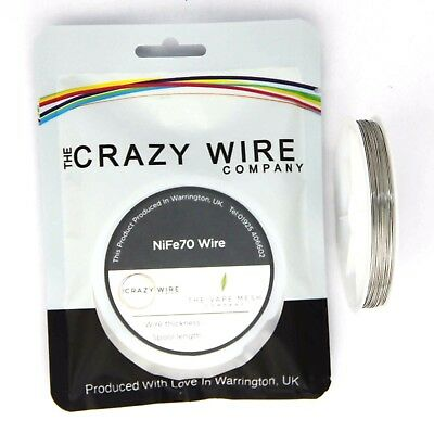 0.5mm (24 AWG) - NiFe70 Wire (70% Nickel) - 1.048 ohms/m - TCR - 5000